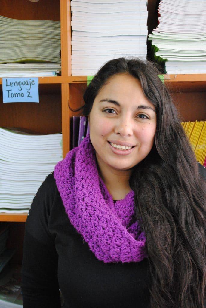 La profesora María Elena Rojas