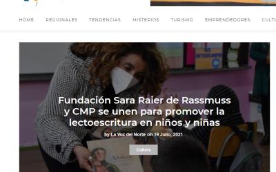 Fundación Sara Raier de Rassmuss y CMP se unen para promover la lectoescritura en niños y niñas