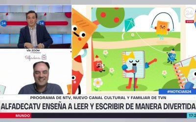 Alfadeca TV está presente en NTV enseñando a leer y escribir en forma divertid